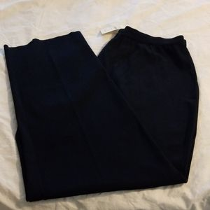 Coldwater Creek Navy Blue NWT Sweater Knit Pant 2X
